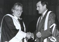 Stan receiving an honorary degree from the University of Hertfordshire